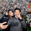 Janel Parrish & Harry Shum, Jr. Celebrate Lunar New Year at LA's Beverly Center