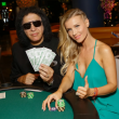 Joanna Krupa & Gene Simmons Play Poker To Raise Funds For Tower Cancer Research Foundation