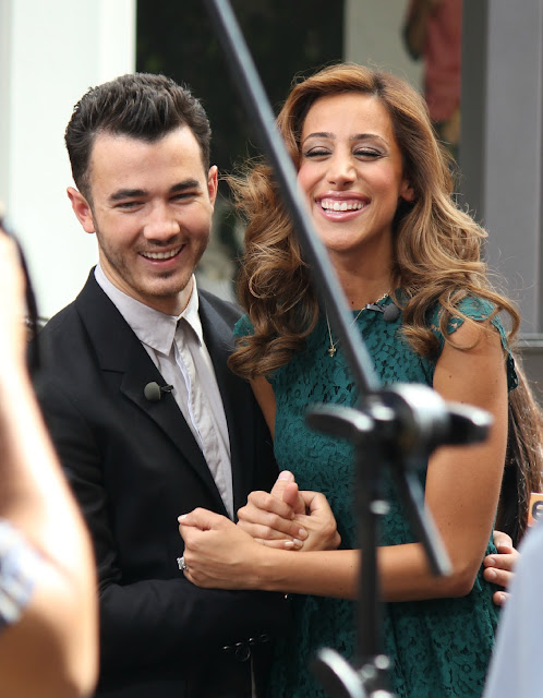 Danielle and Kevin Jonas Extra at The Grove