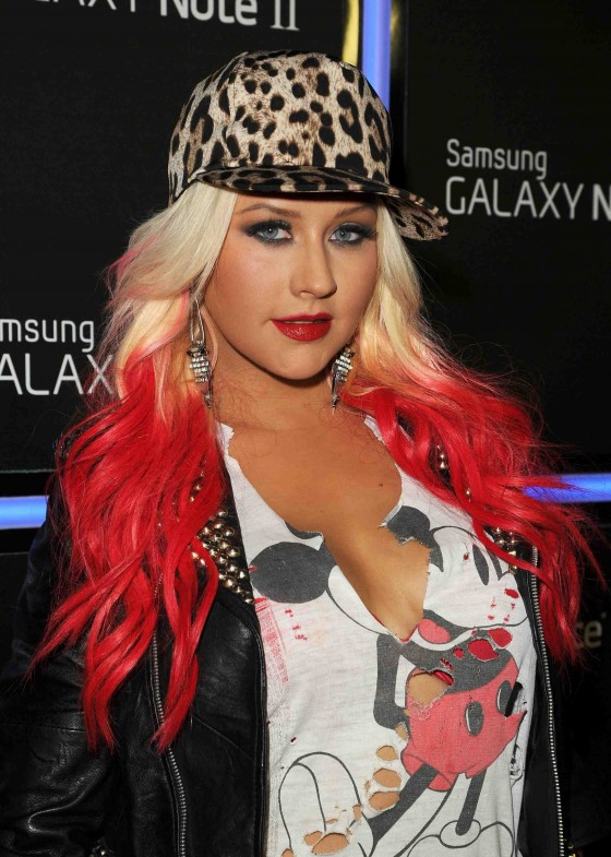 Christina Aguilera Samsung Launch
