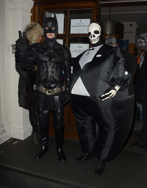Liam Payne dresses as Batman for Halloween
