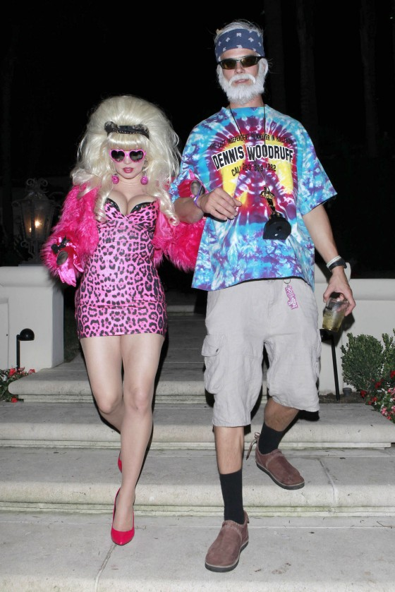 Fergie and Josh attend Halloween party in costumes 2012