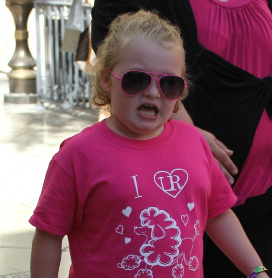 Honey Boo Boo angry face