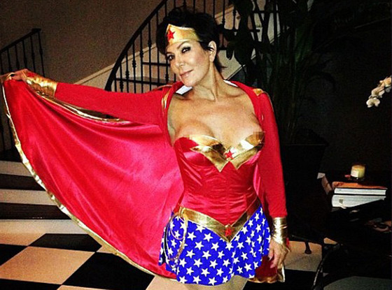 Kris Jenner Nipple Slip as Wonder Woman