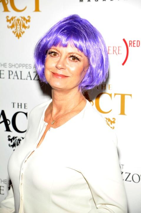 Susan Sarandon in purple wig