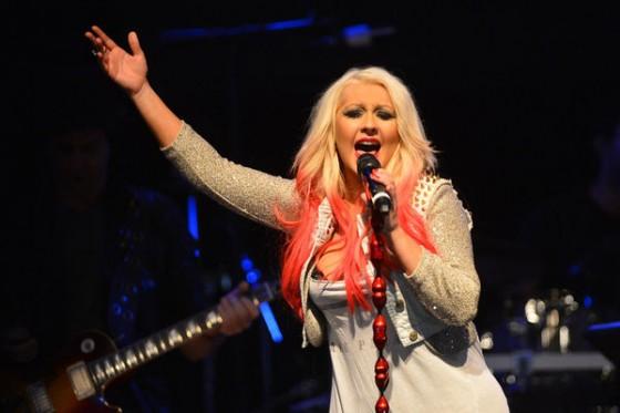 Chrisina Aguilera at the House of Blues