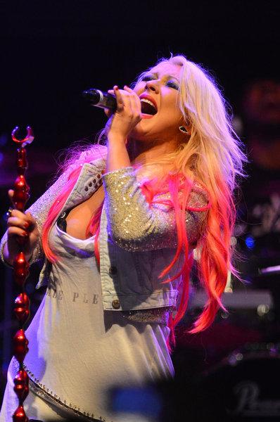 Christina Aguilera at The House of Blues