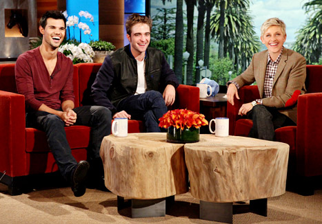 Robert Pattinson Ellen on Taylor Lautner Robert Pattinson Ellen Degeneres   Celebmagnet