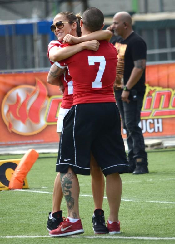 Jennifer & Casper Play In A Charity Football Game