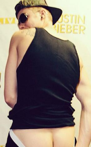 Justin Bieber Butt Crack