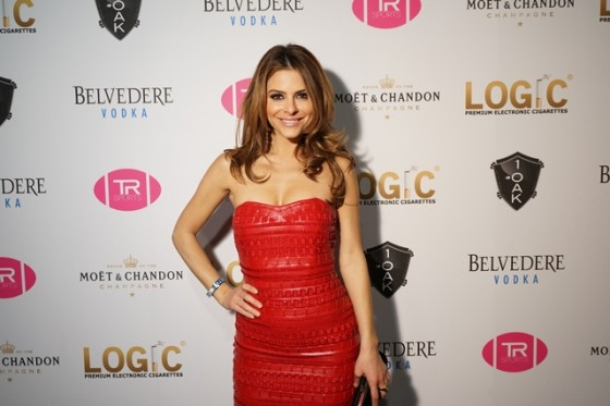 Maria Menounos red dress