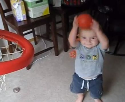 two year old basketball player