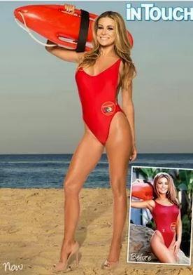 Carmen Electra Baywatch suit