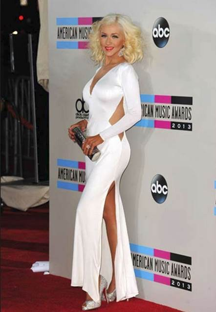 Get The Look Christina Aguilera At The 2013 Ama S