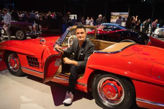 Gilles Marini and car