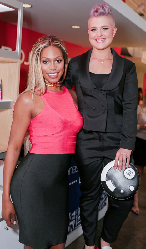 Laverne Cox and Kelly Osbourne at NY Fashion Week