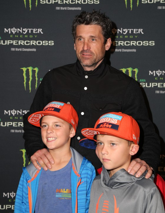 Patrick Dempsey and sons Darby and Sullivan Dempsey