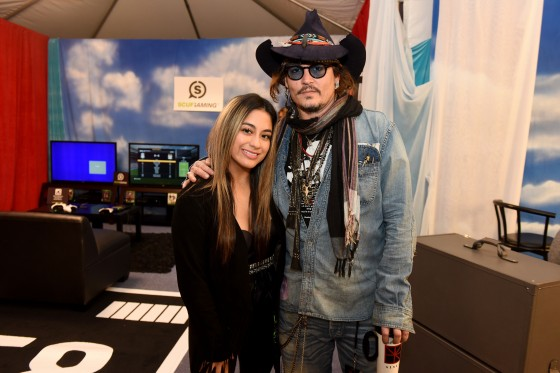 Johnny Depp and Ally Brooke