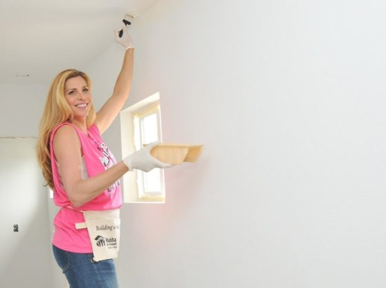 """Actress Candis Cayne volunteering at the 2016 """"Hollywood Build"""""""