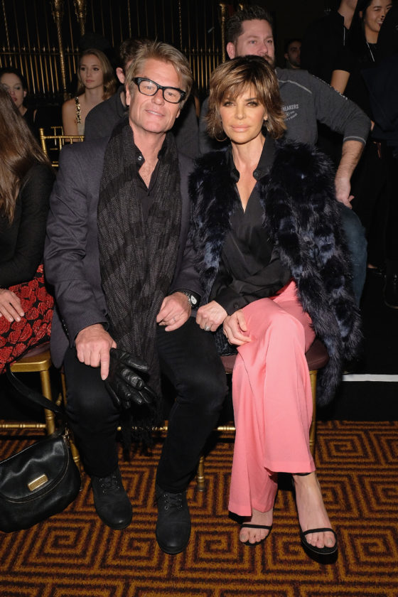 NEW YORK, NY - FEBRUARY 13: Harry Hamlin (L) and Lisa Rinna attend the Sherri Hill NYFW Fall 2017 Runway Show during New York Fashion Week at Gotham Hall on February 13, 2017 in New York City.