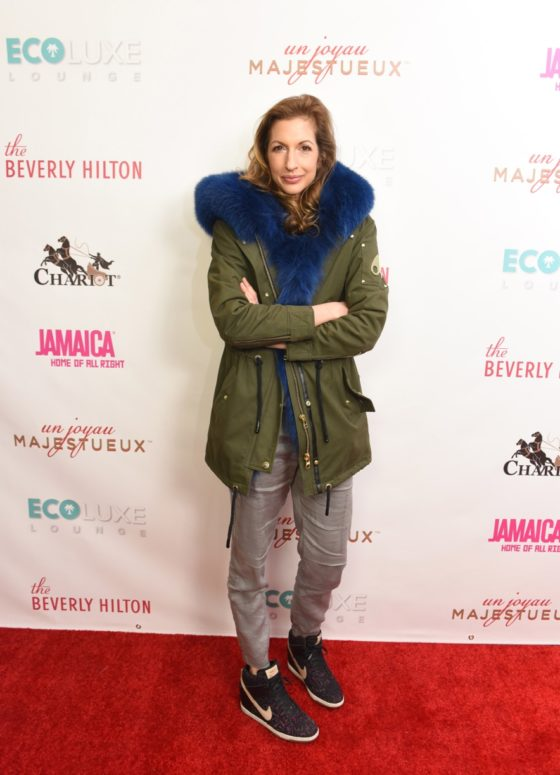 Alysia Reiner was a bundle of joy at Debbie Durkin's EcoLuxe Lounge sponsored by Chariot Travelware and Un Joyau Majestueux at The Beverly Hills Hotel in Beverly Hills, CA.