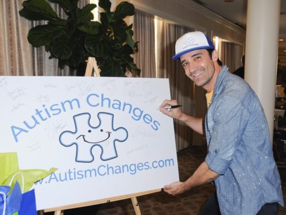 Gilles Marini was all smiles as he supported Autism Changes at Debbie Durkin's EcoLuxe Lounge sponsored by Chariot Travelware and Un Joyau Majestueux at The Beverly Hills Hotel in Beverly Hills, CA.