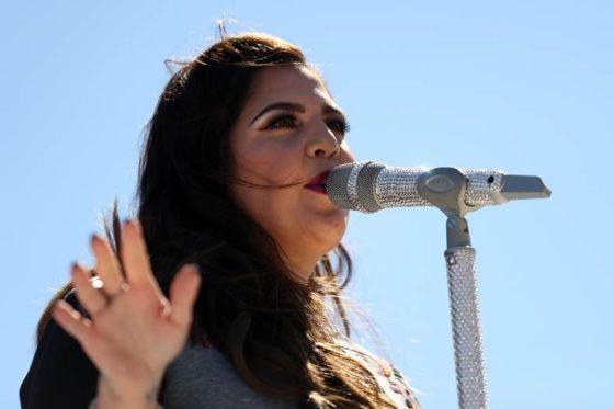 Lady Antebellum performs before the DAYTONA 500 at Daytona International Speedway