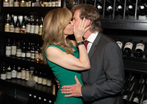 Felicity Huffman and hubby William H Macy showed each other love as they celebrated her Haute Living San Francisco cover with Tanqueray at Osteria Mozza in LA on Saturday.
