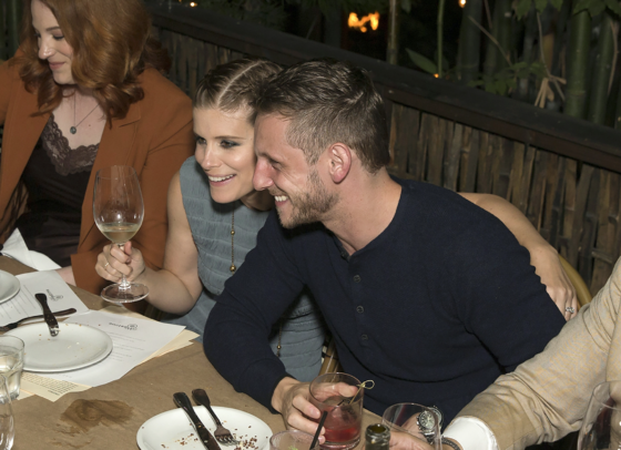 Megan Leaveystar Kate Mara couldn't keep her arms off of hubby Jamie Bell as they celebrated herHaute Living San FransiscoJuly/August cover issue withWestimeat Cliff's Edge in Silverlake, CA last night.