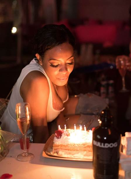 Vanessa Simmons makes a wish blowing out her candles for her birthday at Splash Night Fridays powered by Paris Night LA and French Tuesdays