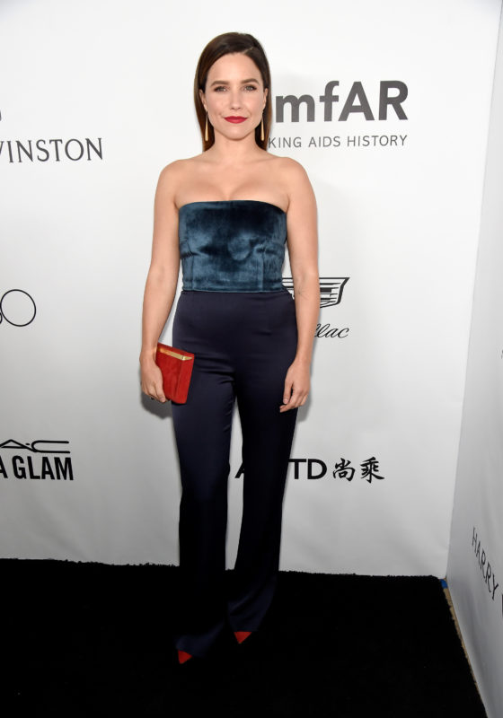 BEVERLY HILLS, CA - OCTOBER 13:  Actor Sophia Bush attends the amfAR Gala Los Angeles 2017 at Ron Burkle's Green Acres Estate on October 13, 2017 in Beverly Hills, California.  (Photo by Kevin Mazur/amfAR/Getty Images for amfAR)