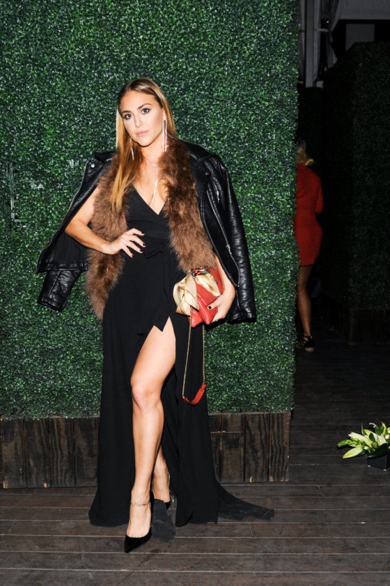 Actress Cassie Scerbo attends the Nicole Frank Clothing launch